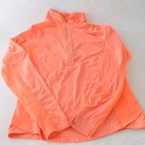 Danskin Now Semi-Fitted Half Zip Pullover Large